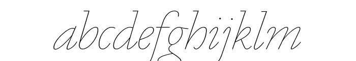 Marian1554 Italic Reduced Font LOWERCASE