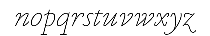 MarianText 1554Italic Reduced Font LOWERCASE