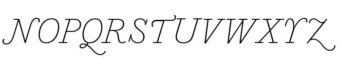 MarianText 1757Italic Reduced Font UPPERCASE