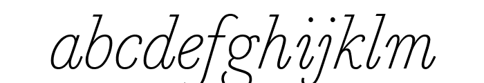 MarianText 1757Italic Reduced Font LOWERCASE
