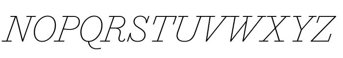 MarianText 1800Italic Reduced Font UPPERCASE