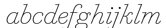 MarianText 1800Italic Reduced Font LOWERCASE