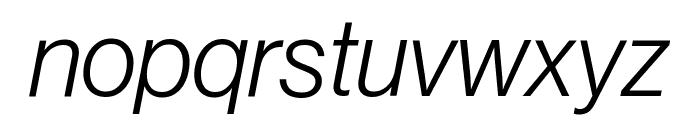 NeueHaasGrotDisp 46LightItalic Reduced Font LOWERCASE