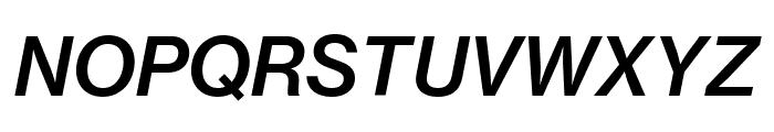 NeueHaasGrotText 66MediumItalic Reduced Font UPPERCASE