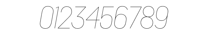Platform HairlineItalic Reduced Font OTHER CHARS