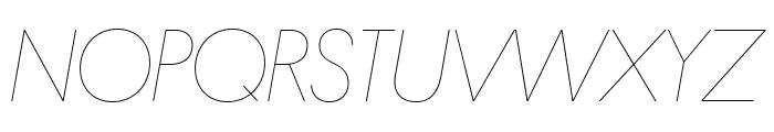 Platform HairlineItalic Reduced Font UPPERCASE