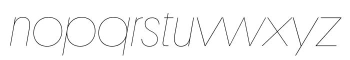 Platform HairlineItalic Reduced Font LOWERCASE