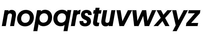 Platform MediumItalic Reduced Font LOWERCASE
