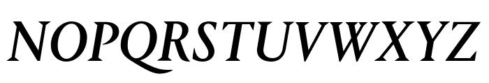 Portrait MediumItalic Reduced Font UPPERCASE