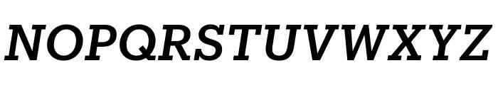 Produkt MediumItalic Reduced Font UPPERCASE