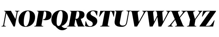 PublicoBanner BlackItalic Reduced Font UPPERCASE