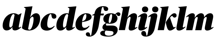 PublicoBanner BlackItalic Reduced Font LOWERCASE