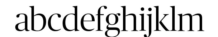 PublicoBanner Light Reduced Font LOWERCASE