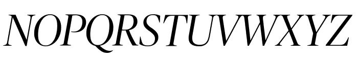 PublicoBanner LightItalic Reduced Font UPPERCASE