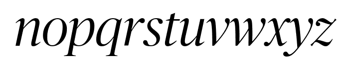 PublicoBanner LightItalic Reduced Font LOWERCASE
