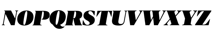 PublicoBanner UltraItalic Reduced Font UPPERCASE