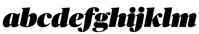 PublicoBanner UltraItalic Reduced Font LOWERCASE