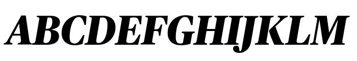 PublicoHeadline ExtraboldItalic Reduced Font UPPERCASE
