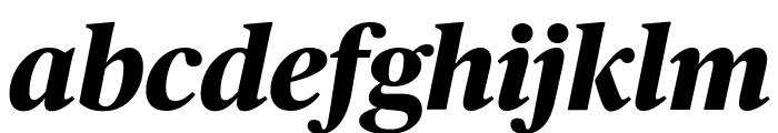 PublicoHeadline ExtraboldItalic Reduced Font LOWERCASE