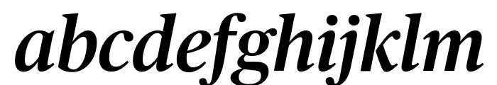 PublicoHeadline MediumItalic Reduced Font LOWERCASE
