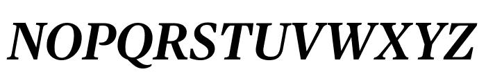 PublicoText SemiboldItalic Reduced Font UPPERCASE