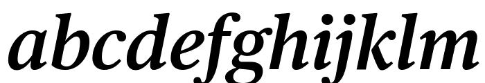 PublicoText SemiboldItalic Reduced Font LOWERCASE