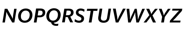 SanomatSansText MediumItalic Reduced Font UPPERCASE
