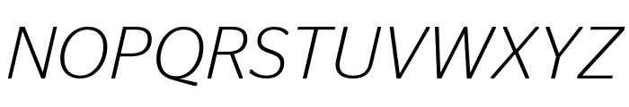 StagSans LightItalic Reduced Font UPPERCASE