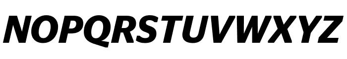 StagSans SemiboldItalic Reduced Font UPPERCASE