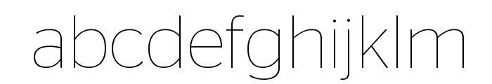 StagSans Thin Reduced Font LOWERCASE