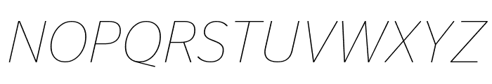 StagSans ThinItalic Reduced Font UPPERCASE