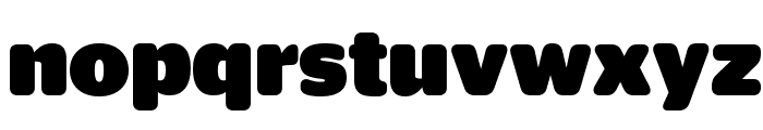 StagSansRound Black Reduced Font LOWERCASE