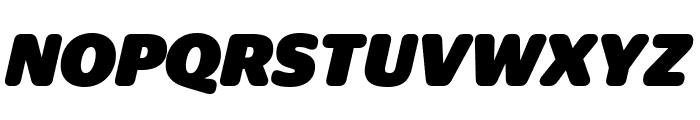 StagSansRound BlackItalic Reduced Font UPPERCASE