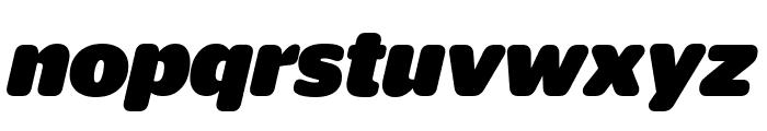 StagSansRound BlackItalic Reduced Font LOWERCASE