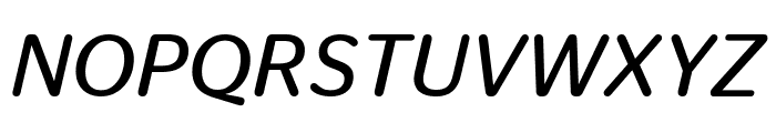 StagSansRound BookItalic Reduced Font UPPERCASE
