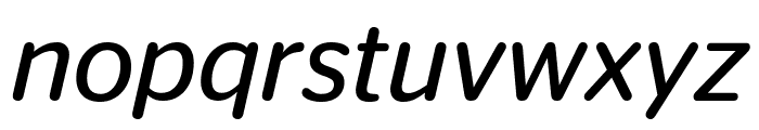StagSansRound BookItalic Reduced Font LOWERCASE