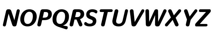 StagSansRound MediumItalic Reduced Font UPPERCASE