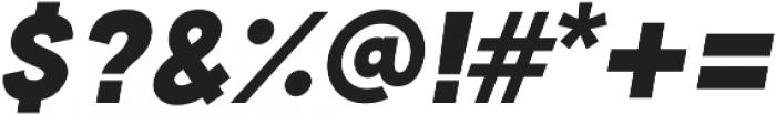 Cubano Sharp Italic otf (400) Font OTHER CHARS