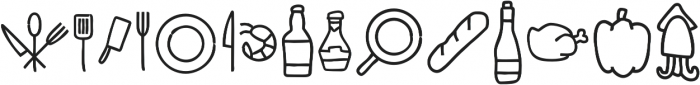 Cuciniere Icons otf (400) Font LOWERCASE