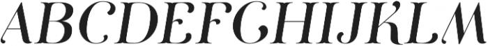 Curator Italic Medium otf (500) Font UPPERCASE