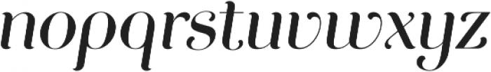 Curator Italic Medium otf (500) Font LOWERCASE