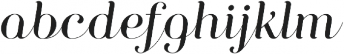Curator Script otf (400) Font LOWERCASE
