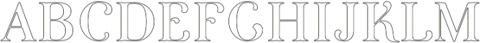 Curator Stroked otf (400) Font UPPERCASE