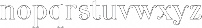 Curator Stroked otf (400) Font LOWERCASE