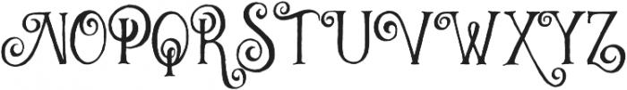 Curely Pro otf (400) Font UPPERCASE