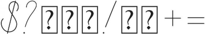 Curline otf (400) Font OTHER CHARS