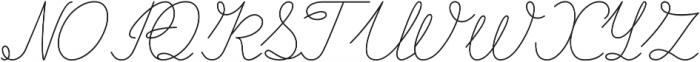 Curline otf (400) Font UPPERCASE