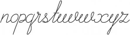 Curline otf (400) Font LOWERCASE