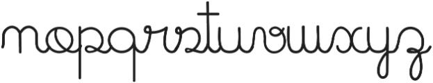 Cursive Kids ttf (400) Font LOWERCASE