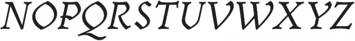Cursive otf (400) Font UPPERCASE
